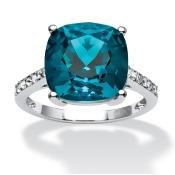 Blue Swarovski Crystal Ring