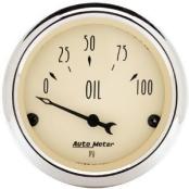 AUTO METER 1827 Antique Beige Oil Pressure Gauge