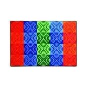 Flagship Carpets Rectangle Bullseye Block Carpet - 10 Ft. 9 in. x 13 Ft. 2 in. - 100 Percent Nylon