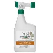 Bramton BR10349 Vets Best Natural Flea And Tick Spray, 8 Oz.