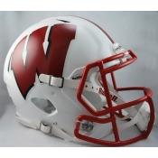 Wisconsin Badgers Full Size Riddell Speed Football Helmet