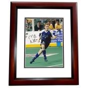 8 x 10 in. Martin Nash Autographed Soccer Photo, Mahogany Custom Frame