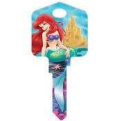 Hillman Fasteners 87631 Disney Key, KW1 Ariel & Friends Painted Key Blank