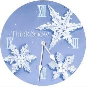 Lexington Studios 23-Round Clock:23098R Snowflakes Round Clock