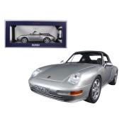 Norev 187592 1994 Porsche 911 Cabriolet Silver 1-18 Diecast Model Car