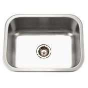 Houzer MS-2309-1 Medallion Classic Series Undermount Stainless Steel Single Bowl Kitchen Sink