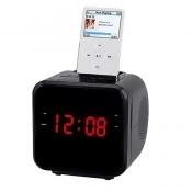Supersonic IQ-1303BLACK 1.2 in. Ipod, Iphone Docking Station with AM, FM Radio & Alarm Clock