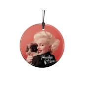 Trend Setters SPCIR414 Marilyn Monroe - Oriental Gown & Pekinese Starfire Prints Glass Ornament
