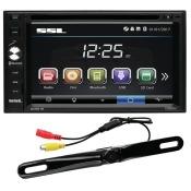 Sound Strom Laboratories SSL-DD761BW BT 2 x Din DVD 6.2 in. with Wireless Camera