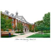 Landmark Publishing IL966 Illinois State Campus Images Lithograph Print