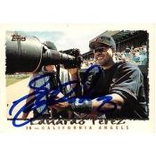 Autograph Warehouse 366115 Eduardo Perez Autographed Baseball Card - California Angels 1995 Topps No.126