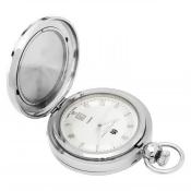 Charles-Hubert- Paris 3844 Two-Tone Quartz Picture Frame Pocket Watch