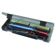 ArtBin 87061 ArtBin Pencil Box-12.38 in. x 4.875 in. x 1.75 in. Translucent Charcoal