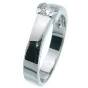 Plutus kkr5060 925 Sterling Silver Platinum Finish Brilliant Fashion Ring Size 5