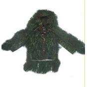 GhillieSuits S-BDU-J-Leafy-Medium Sniper Ghillie Suit Jacket Leafy Medium