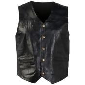 Giovanni Navarre Italian Stone Design Genuine Leather Vest- 6x