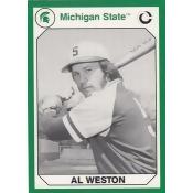 Autograph Warehouse 101231 Al Weston Baseball Card Michigan State 1990 Collegiate Collection No. 166