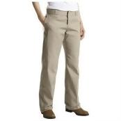 Dickies FP774KH 8 RG Womens Original Classic Work Pant, Khaki 8 Regular