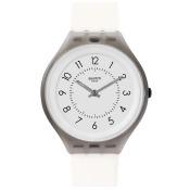 SWATCH 貼身純粹 簡約黑白極薄腕錶 SVUM101