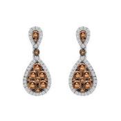 Le Vian Le Vian Chocolate Diamonds and Vanilla Diamond Earrings set in 14K Vanilla Gold