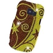 Huawei Pinnacle 2 M636 - Swirl Bling Case, Brown/Gold