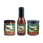 Cranberry Condiment Trio