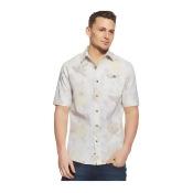 Sean John Mens Linen Floral Print Button Up Shirt