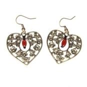 Handmade Heart Agate Earrings (China)