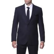 Ferrecci Men's Slim Fit Navy Plaid Tone on Tone 2-piece Suit