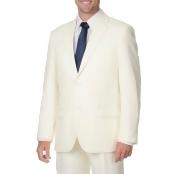 Bolzano Uomo Collezione Men's Off-white 2-button Suit