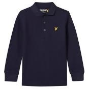 Navy Long Sleeve Polo Top
