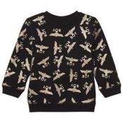 Boy London Black and Gold Repeat Logo Sweatshirt 5-6 years