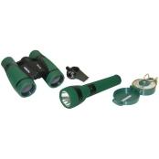 Carson Adventure Pak Containing 5x30 Binocular, Lensatic Compass, Flashlight, & Whistle/Thermometer