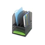 Safco - Onyx Mesh Desk Organizer, Eight Sections, 11 1/2 x 9 1/2 x 13, Black