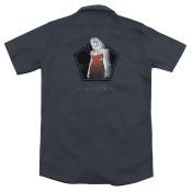 Battlestar Galactica Cylon Tech (Back Print) Mens Work Shirt
