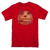 Magnum PI HawaIIan Sunset Mens Short Sleeve Shirt