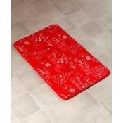 Chalkboard-Look Holiday Bath Collection - Rug