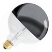 Bulbrite 712351 100 Watt 120 Volt G40 Standard Base Half Chrome Globe Decorative Light Bulb