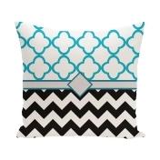 E by Design Express Line Decorative Pillow Black Polyester