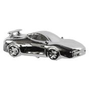 Urban Trends Chrome Ceramic Sports Car Figurine