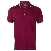 Polo Ralph Lauren stripe tipped polo shirt - Red