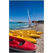 Cuba Matanzas Varadero Beach kayaks Poster Print by Walter Bibikow