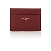 Saint Laurent Men's Leather Card Case-Red