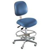 BIOFIT EEC-H-R-ATF-VUV-AV106 Ergo Chair, Royal, Vinyl, Class 100