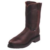 JUSTIN ORIGINAL WORKBOOTS 4765 Wrk Boots, Stl, Men, 10, B, PU Insole, Lea., PR