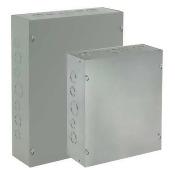HOFFMAN ASE12X8X4 Metallic Pull Box Encls,12inHx8inWx4inD