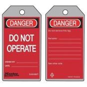 Metal Detectable Danger Tag, Master Lock, S4046MT, 5-3/4