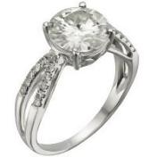 2.92 CT TW DEW Forever Brilliant® Moissanite Solitaire Ring in 14K White Gold