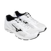 Mizuno Wave Unite 2 White Black Mens Athletic Running Shoes
