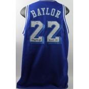 Lakers Elgin Baylor 'HOF 77' Authentic Signed Blue Jersey PSA/DNA ITP